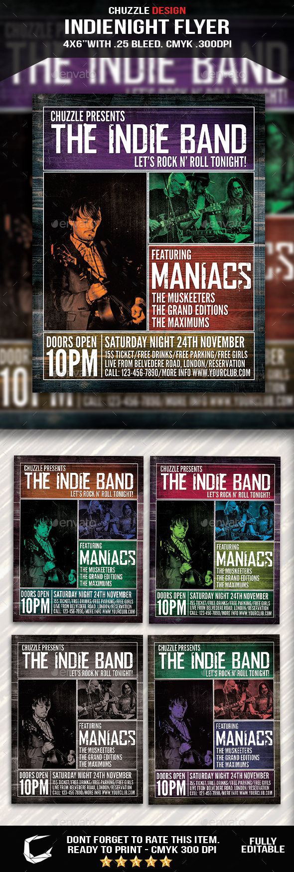 GraphicRiver Indie Band Flyer Poster 20755816
