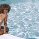 Beautiful Girl Posing in Poolside