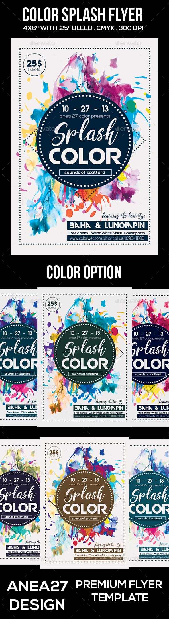 GraphicRiver Splash Color Flyer 20755522