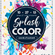 Splash Color Flyer - GraphicRiver Item for Sale