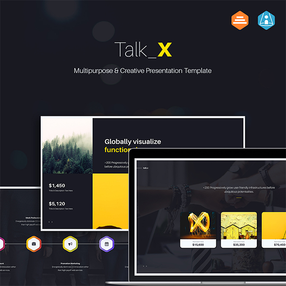 GraphicRiver Talk X Multipurpose & Creative Powerpoint 20766352
