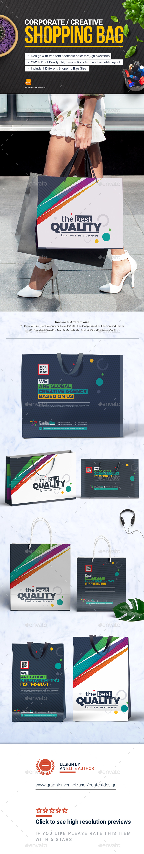 GraphicRiver Shopping Bag Design Template 20766443