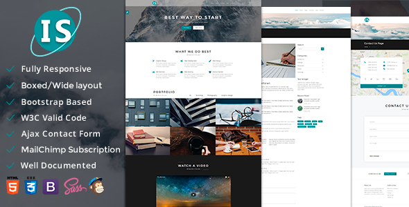 Infosphere — Multipurpose Responsive Template - Creative Site Templates