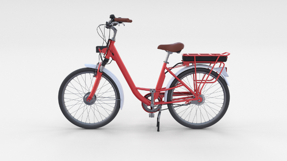 3DOcean Electric City Bicycle Red 20766628