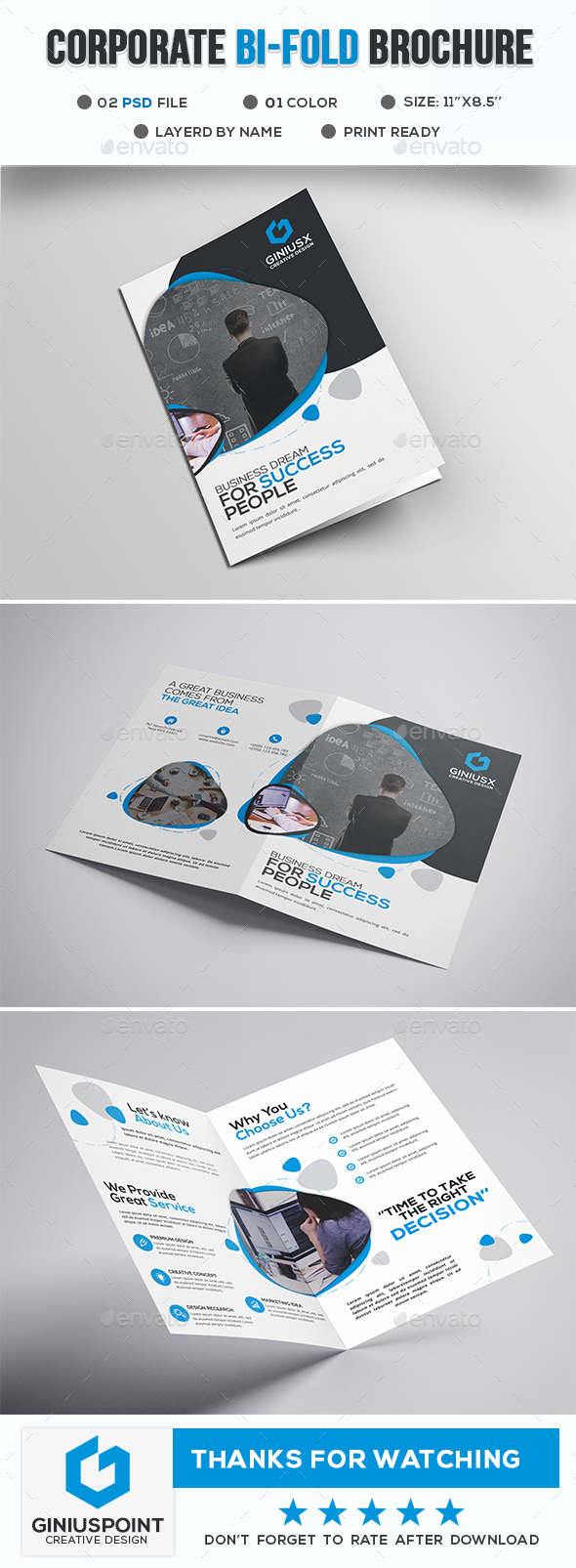 GraphicRiver Corporate Bi-Fold Brochure 20766609