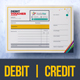 Debit and Credit Voucher Design Template - GraphicRiver Item for Sale
