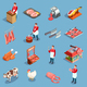 Meat Market Icon Set