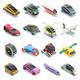 Future Transport Isometric Icons Set