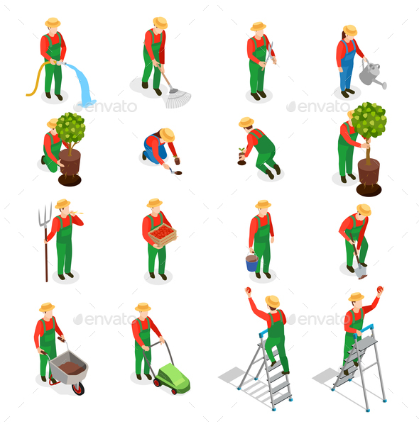Gardener Characters Icon Set - Miscellaneous Vectors