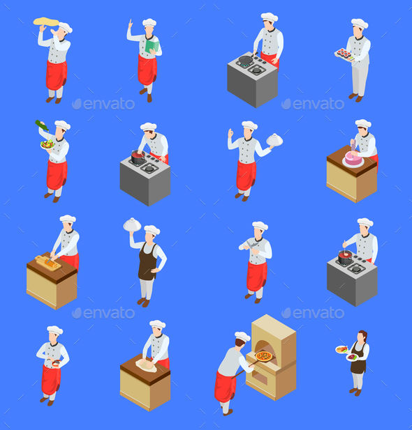 GraphicRiver Cook Characters Icon Set 20766895