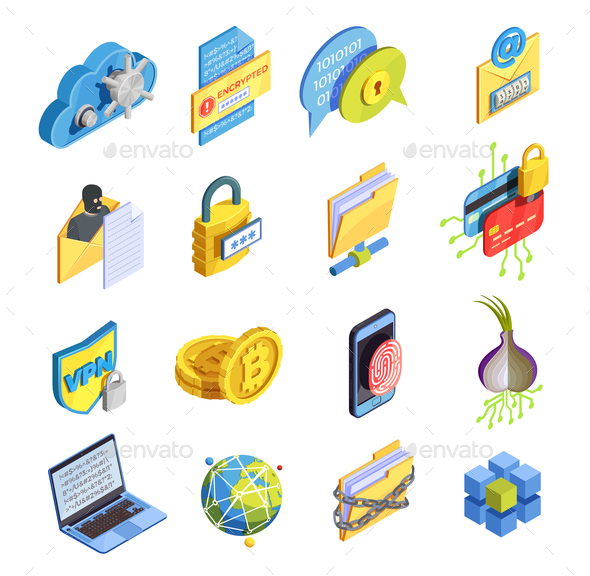 Internet Security Icon Set - Computers Technology