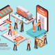 Electronic Commerce Isometric Design Concept