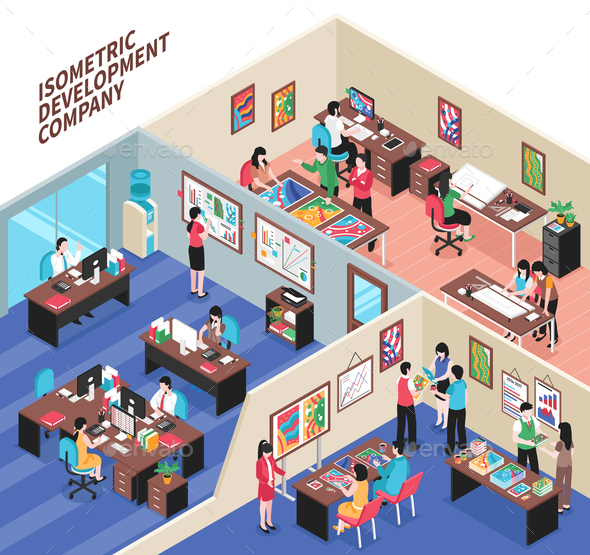 GraphicRiver Development Company Isometric Illustration 20766902