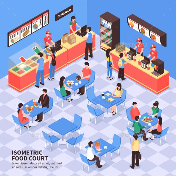 GraphicRiver Fast Food Isometric Illustration 20767027