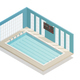 Swimming Pool Bath Isometric View
