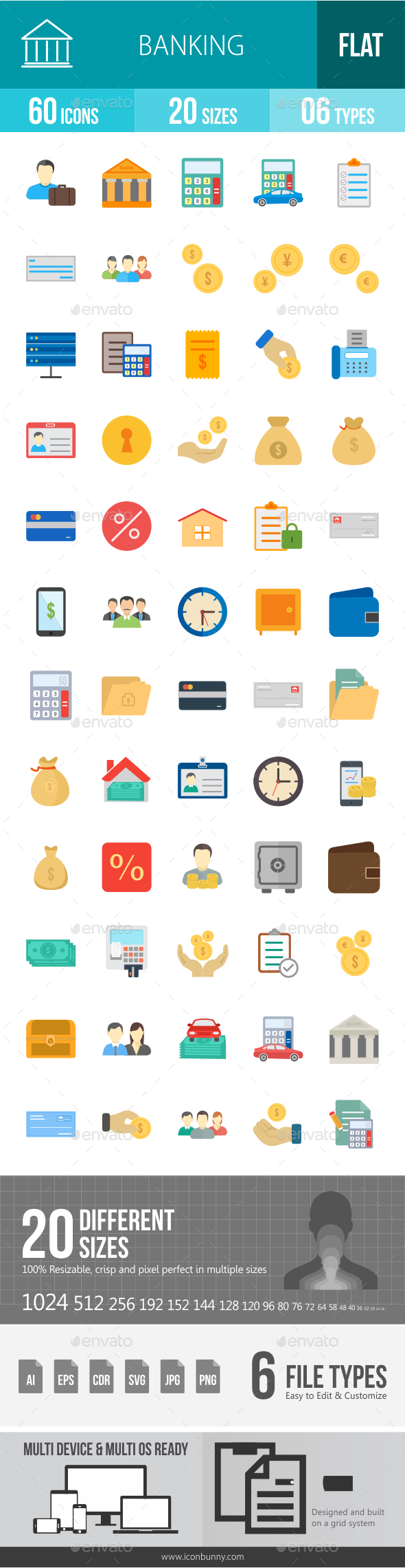GraphicRiver Banking Flat Icons 20767062