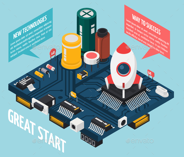 GraphicRiver Semiconductor Electronic Components Concept 20767069