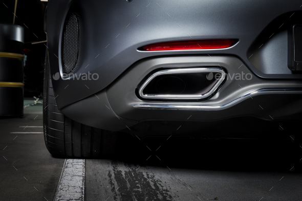 Exhaust Pipe Of A Luxury Car Stock Photo By Gargantiopa Photodune