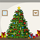 Illustration of Interior Equipment with Christmas Tree - GraphicRiver Item for Sale