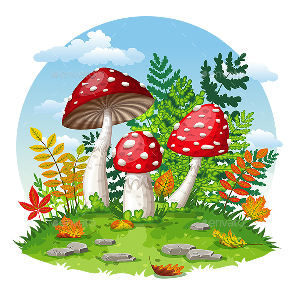 GraphicRiver Illustration of Mushrooms in Autumn 20767446