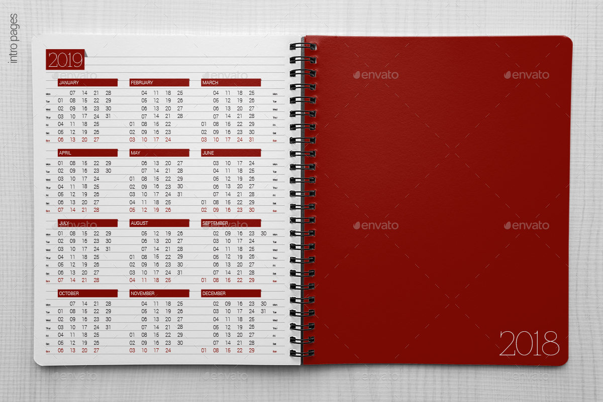 planner    organizer    diary    calendar 2018 by re start