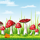 Illustration of Mushrooms in Autumn - GraphicRiver Item for Sale