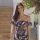 Wonderful Girl in Dress at Tropical Street