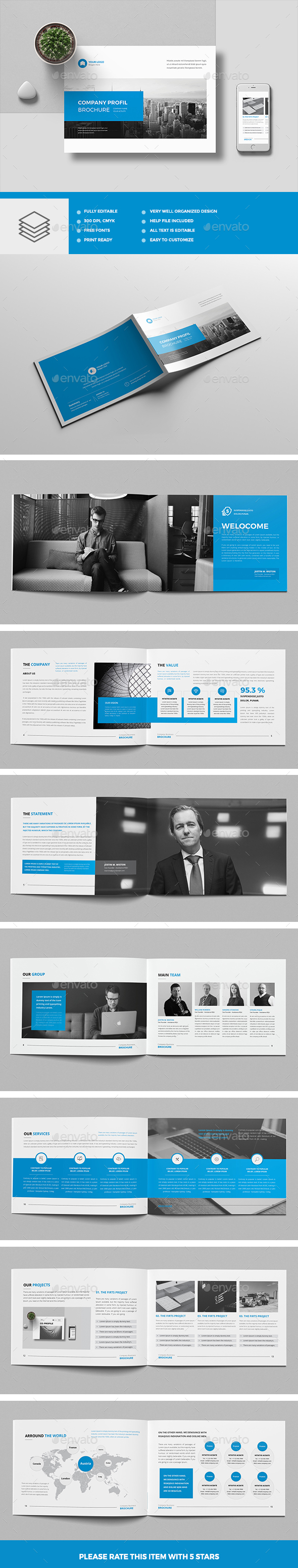 Company Profile Landscape - Corporate Brochures