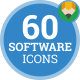 Icons Pack Application Software Code Flat Animated Icons