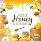 Set of Honey Illustration - GraphicRiver Item for Sale