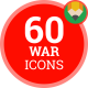 Icons Pack War Terror Terrorism Military Flat Animated Icons