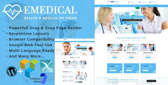 Image of eMedical - Health & Business Responsive WordPress Theme