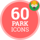 Icons Pack  Amusement Park Holiday Flat Animated Icons