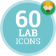 Icons Pack Professor Scientist Lab Flat Animated Icons