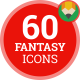Icons Pack Fantasy Castle Sword Medieval Flat Animated Icons