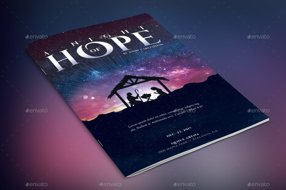 Hope Christmas Program Template by Godserv   GraphicRiver