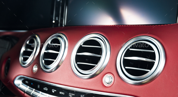 Modern car interior details - Stock Photo - Images