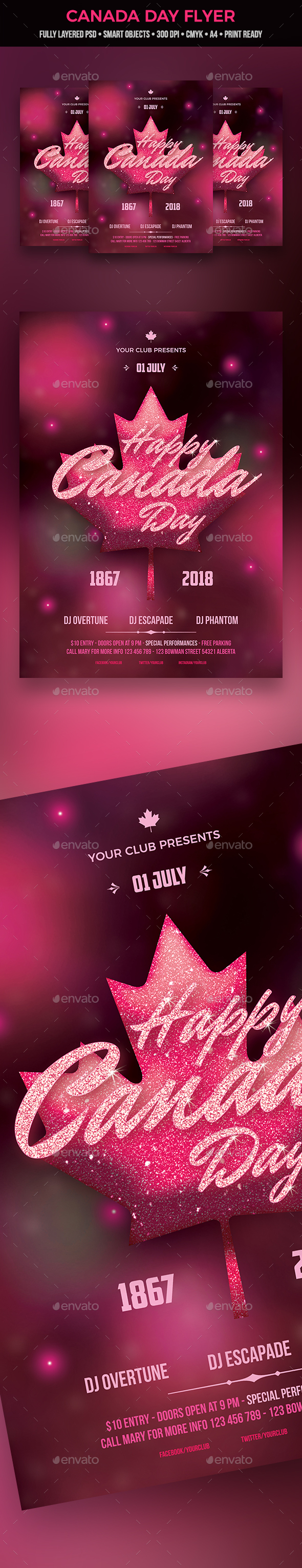GraphicRiver Canada Day Flyer 20767990