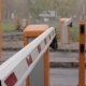 Checkpoint Three Posts Automatic Road Barrier Gate Lifting Gate Opens and Passes Car - VideoHive Item for Sale