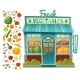 Grocery Shop Facade - GraphicRiver Item for Sale