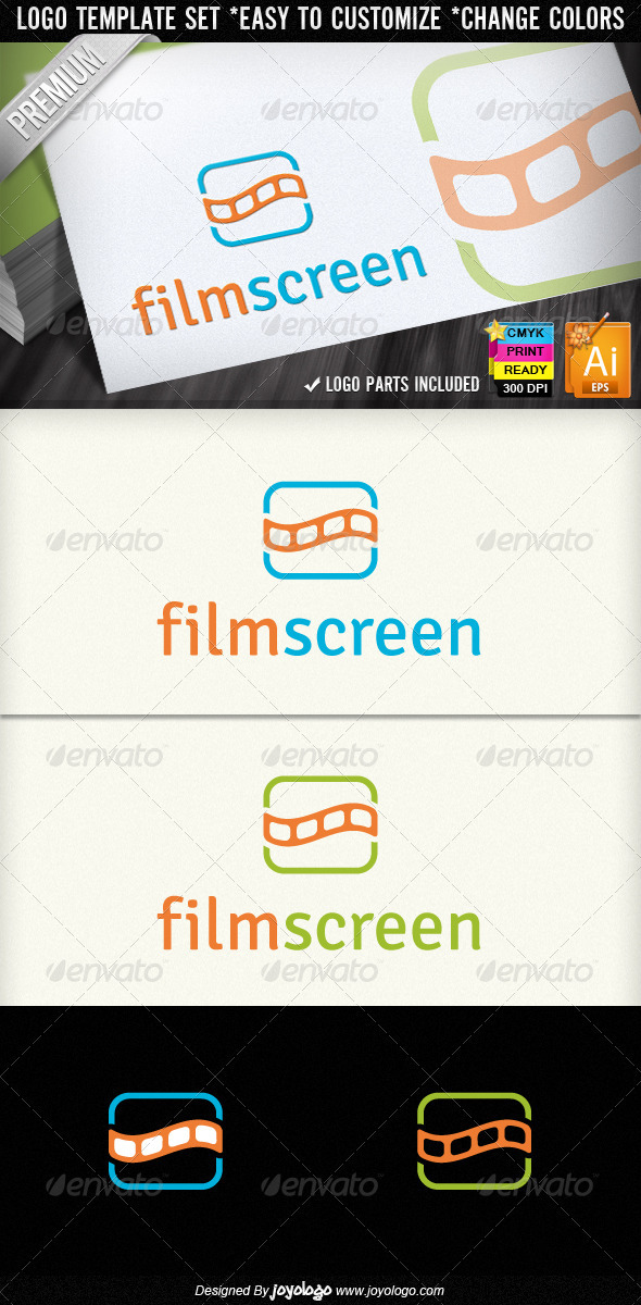 Film Strips Screen Movie Cinema Logo Designs - Objects Logo Templates