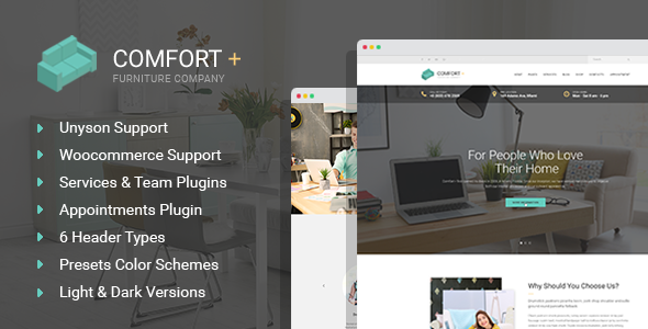 Comfort+  - Furniture Making & Interior Design WordPress Theme