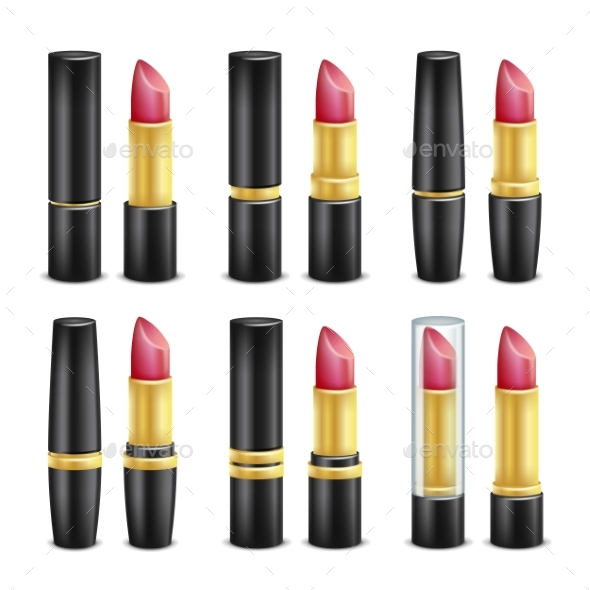 GraphicRiver Lipstick Set Vector 20769149