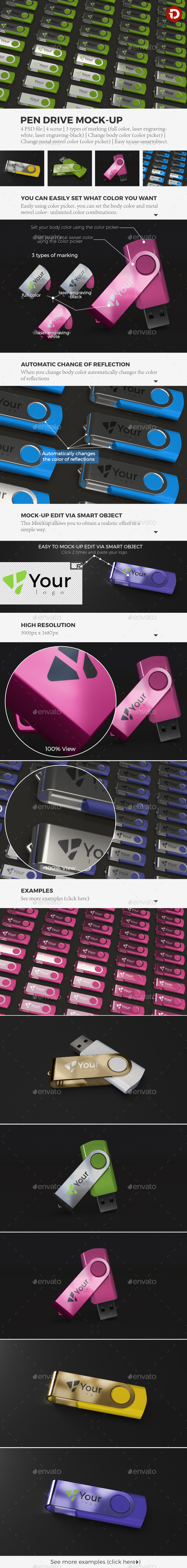 Pen Drive Mock-Up - Miscellaneous Product Mock-Ups
