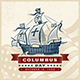 Vintage Columbus Day Label - GraphicRiver Item for Sale