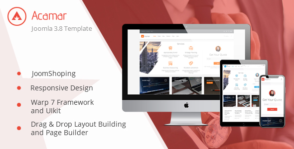 Image of Acamar — Tiled Layout and Clean Design Responsive Joomla Template