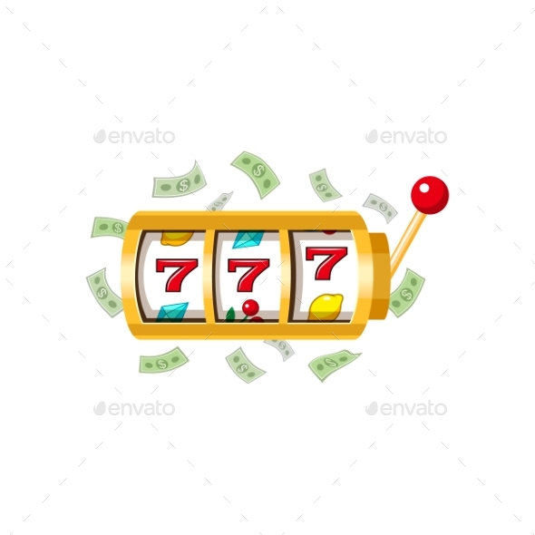 Three Lucky Sevens Slot Machine Display - Miscellaneous Vectors