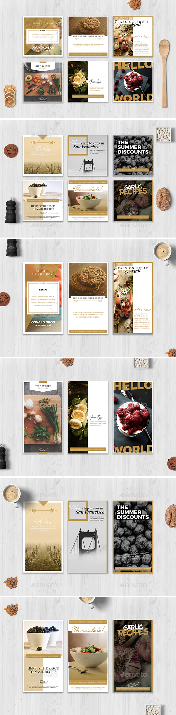 Food Social Media Pack - Social Media Web Elements