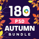 Autumn Sale Banners Bundle - 10 Sets - 180 Banners