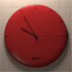 Red wall clock - 3DOcean Item for Sale